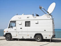 Tv news truck. Royalty Free Stock Image