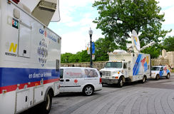 Tv news truck Stock Photography