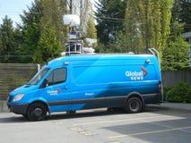 TV News Van Stock Image