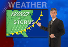 TV news weather meteorologist anchorman reporter royalty free stock photos