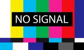 Tv no signal design Stock Photos