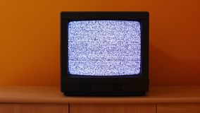 TV no signal stock footage