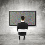 TV with noise Royalty Free Stock Image