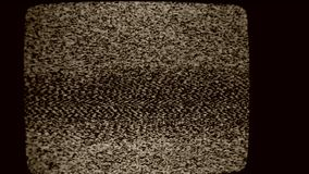 Tv Noise. Close up of a TV Screen noise stock video