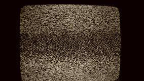 Tv Noise. Close up of a TV Screen noise stock video footage