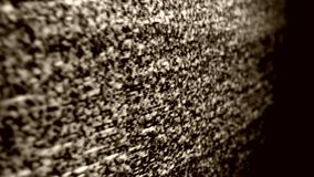 Tv Noise. Close up of a TV Screen noise stock footage
