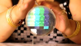 TV noise in the crystal ball. Of the medium stock video