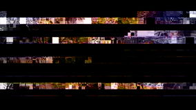 TV Noise 0864. Digital TV Noise flickers and shifts (Loop stock footage