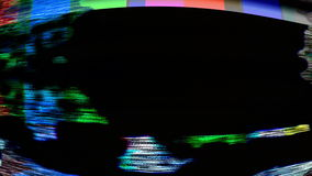 TV Noise 0824. Malfunctioning TV color bars (Loop stock footage