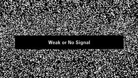 TV noise. Weak or no signal stock footage