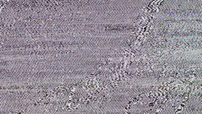 TV Noize Geen Signaal stock videobeelden