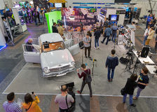 TV och internationell mässa för radio i Kiev, Ukraina royaltyfri fotografi