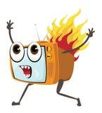 Tv ogień Fotografia Stock