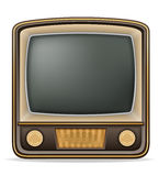 Tv old retro vintage icon stock vector illustration Royalty Free Stock Photo