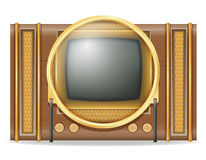 Tv old retro vintage icon stock vector illustration Royalty Free Stock Image