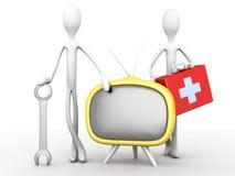 TV- Ondersteuningsteam stock illustratie
