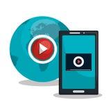 tv online design Royalty Free Stock Image