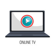 tv online design Royalty Free Stock Photos