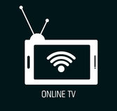 tv online design Royalty Free Stock Images