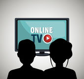 Tv online design Royalty Free Stock Photography