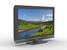 TV op witte achtergrond Royalty-vrije Stock Foto