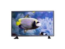 TV op witte achtergrond stock foto's