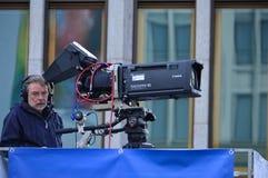 TV operator, Berlin 2015 Royalty Free Stock Photo