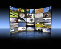 Tv panel. An illustration of a big TV panel Royalty Free Stock Images