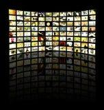 TV ? panneau de s Photos libres de droits
