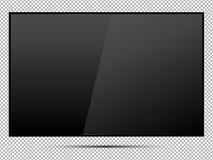 TV, pantalla en blanco moderna lcd, llevada, en fondo del aislante, el ejemplo elegante EPS10 del vector Fotografía de archivo