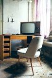 TV a partire dai vecchi giorni Immagini Stock Libere da Diritti
