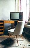 TV a partire dai vecchi giorni Fotografie Stock Libere da Diritti