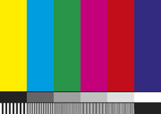 Tv pattern Royalty Free Stock Photo