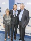 TV-Persoonlijkheid Andy Cohen en zijn Ouders Stock Foto's