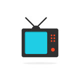 TV-pictogram met schaduw Stock Foto's