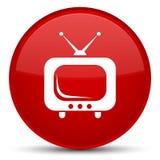 TV-pictogram speciale rode ronde knoop stock illustratie