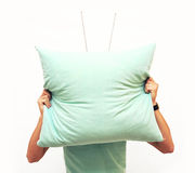 Tv-pillow Royalty Free Stock Image