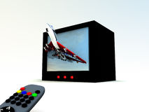 TV Plane 1 Stock Photos