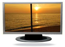 Tv-plasma Royalty Free Stock Photos