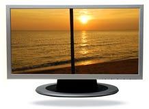 TV-plasma Photos libres de droits