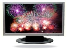 TV-plasma Fotografie Stock
