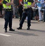 Två polisar Arkivfoto