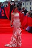 TV Presenter Julia Baranovskaya at Moscow Film Festival Stock Photos