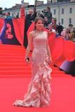 TV Presenter Julia Baranovskaya at Moscow Film Festival Royalty Free Stock Photo