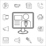 TV presentericon. Media icons universal set for web and mobile stock illustration