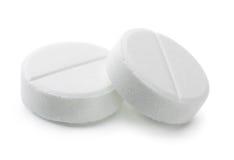 Två preventivpillerar Arkivfoton