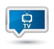 TV prime blue banner button Stock Image