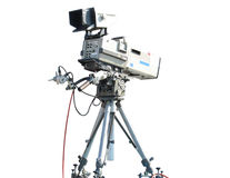 TV Professional studio digital video camera Royalty Free Stock Image