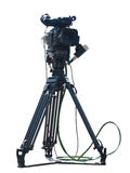 TV Professional studio digital video camera isolated on white Stock Photography