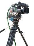 TV Professional studio digital video camera isolated on white Stock Photo